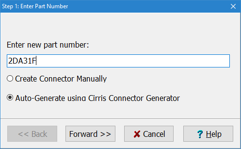 Auto-generate a connector by part number