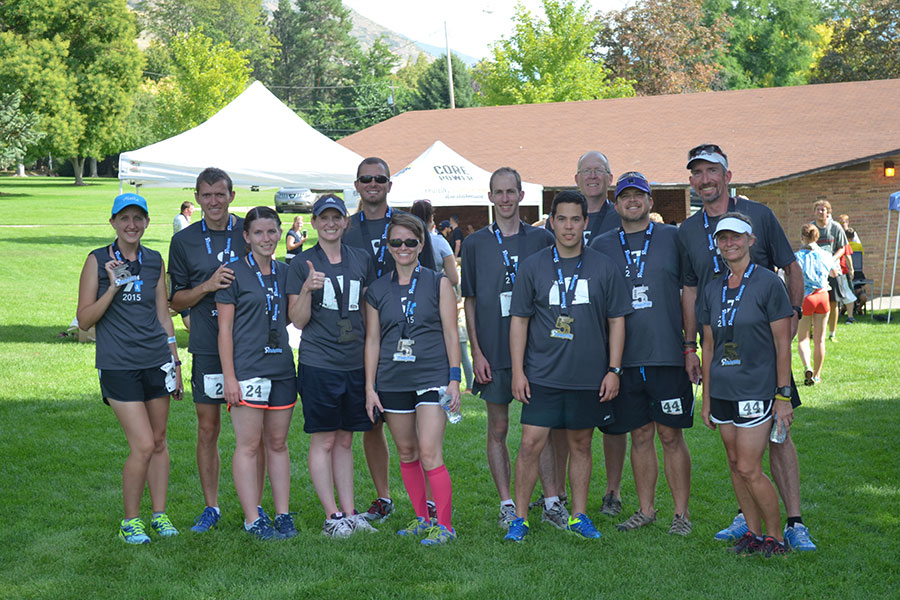Cirris employees participate in Rivalry Relay.