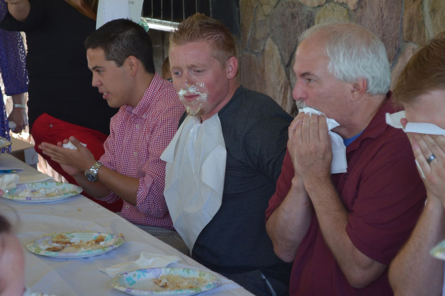 Cirris Summer party pie-eating contest.